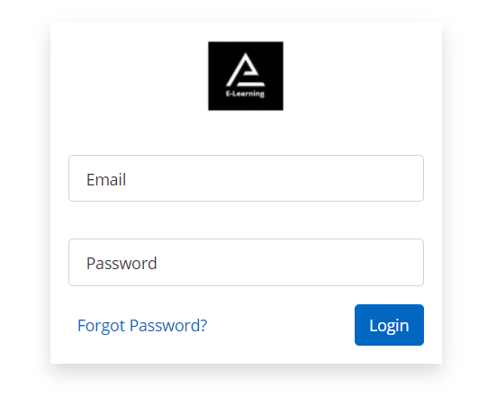 login form of the lms